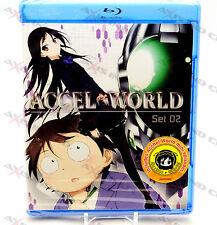 Accel World Set 02 Ep. 1-24 (Blu-ray, 2013, 2-Disc Set) R1 Viz Media Japan Anime