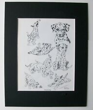 Dalmation Pups Dog Print Gladys Emerson Cook Bookplate 1962 11x14 Matted Cutie