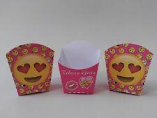 5 porta patatine festa compleanno party set sweet table kit smile giallo rosa