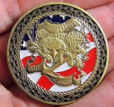 """US Navy Challenge Coin """"Don't Tread on me"""" Navy Collectible sailor"""