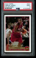 2003-04 Topps Collection Lebron James Rookie PSA 9 Mint #221