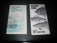 2 vintage Wisconsin fishing regulations 1972 1979 booklet hunting/outdoors