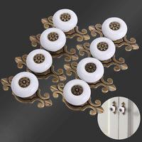 8x Ceramic Handle Pull Knob Cabinet Door Cupboard Drawer Locker Closet Wardrobe