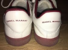Isabel Marant Bryce Zapatillas/Zapatillas De Cuero Blanco EU 39/UK 6 RRP £ 265