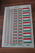 DDR typofix Folie NVA Ungarn Flagge Rubbelbilder