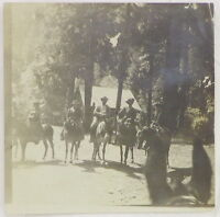 "1880s Silver Gelatin Photograph, Yosemite Wild West Women on Mules, ""The Bunch"""