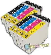 8 T0715 NON-OEM Cartuchos de tinta para Epson T0711-14 Stylus SX218 SX400 SX405 SX410