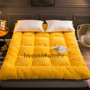 Comfortable Soft Foldable Tatami Mattress Single Double Thick Warm Milk Velvet @