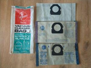 Lot of 10 Vintage Hoover Throw Away Vacuum Cleaner Filter Bags - 3 Types
