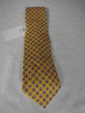 NEW Mens Ralph Lauren Handmade In Italy Woven Yellow Silk Pattern Tie RRP £85