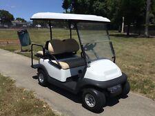 2014 white Club Car Precedent 4 seat passenger 48v 48 volt Golf Cart lights