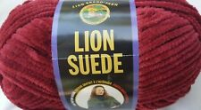 Lion Suede Yarn 20 Colors Bulky Weight Discontinued Nos Chenille Type You Pick