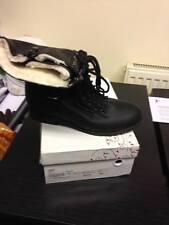 Zapatos para mujer nuevo Jeff Bains negro piel forrada Botas Uk Size 7 RRP £ 30