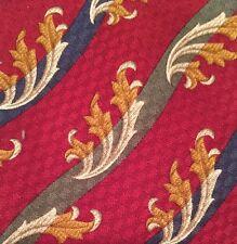 Vintage Burberrys Of London Red Silk Tie Green Blue Stripes Vintage