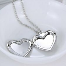 Fashion glow in the dark Heart Love Necklace Pendant Silver Women Noctilucence