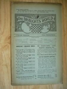 The Draughts World A Monthly Magazine Vol 40 No 189 1912 SCARCE