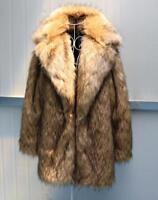 Winter Warm Mens Faux Fur Overcoat Occident Mink Long Sleeve Outwear Coat Jacket
