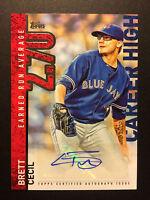 Brett Cecil signed 2015 Topps career high CH-BC autograph auto baseball card