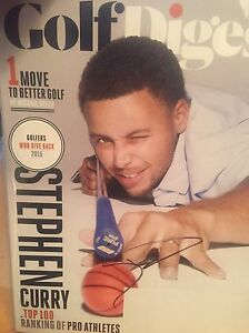 STEPHEN CURRY autographed Signed Golf Magazine Golden State Warriors rare
