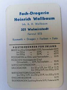Taschenkalender DDR, 1970. Fach-Drogerie Wallbaum. Wolmirstedt