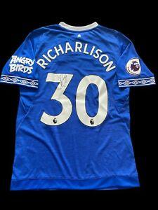 Richarlison Signed 2018/2019 Everton Home Shirt