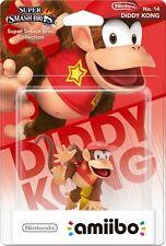 Nintendo Amiibo Diddy Kong Personnage Figurine Super Smash Bros Wii U 3 DS Brand New