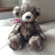 Cappuccino / Russ Plush Teddy Bear Brown & Tan with Plaid Bow