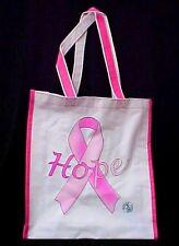 Pink Ribbon Hope Tote Goody Book Bag Breast Cancer Awareness Student Nurses New