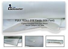 "Fiberglass Cloth Plain Weave 6oz 39/"" wide in 20/' feet length Best quality 200g"