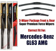 Wipers Trico 3pk Front/Rear fits 2013+ Mercedes-Benz GL63 AMG 25260/220/12j