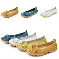 Womens Flats Shoes Hollow out Pumps Slip on Flower Breathable Soft Non-slip Chic