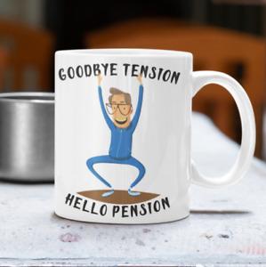 Goodbye Tension Hello Pension Mug Retiring Retirement Retired Funny Present Gift