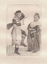 John Kay Original Antigua Grabado. Thomas Fraser (natural) 1784.