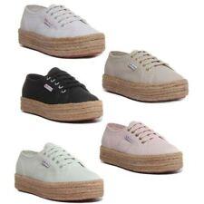 Superga 2730 Cotropew Mujer Zapatillas de Lona Plataforma Vario Color Talla UK 3