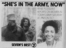 1979 WJLA TV  NEWS AD~RENEE POUSSAINT in WASHINGTON,D.C. WOMAN IN TODAY'S ARMY