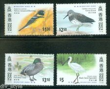 Migratory Birds set of 4 stamps mnh Hong Kong 1997 Teal Bunting Spoonbill