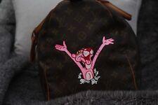 Louis Vuitton Keepall Duffle Bag (Rosa Pintado a Mano Bolso 100% Genuin Pantha)