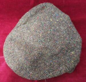 Donegal Brown Tweed Vintage Flat Cap Handmade in Ireland