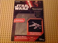 Disney Star Wars Authentic Poe Dameron's X-Wing Metal Earth 3D Model Kit New NIB