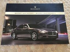 MASERATI QUATTROPORTE & QUATTROPORTE S PRESTIGE SALES BROCHURE 2009 USA EDITION.