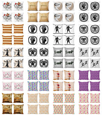 Ambesonne Sketch Design Cushion Cover Set of 4 for Couch and Bed in 4 Sizes