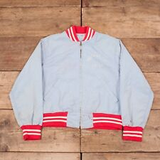 "Mens Vintage Champion 50s Blue Cotton Varsity Jacket Talon USA Medium 38"" HA159"