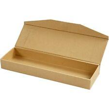 PLAIN MATITA CASE BOX-stile vintage-scatola di immagazzinaggio di-CARTONE-Craft DECORARE