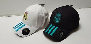 2x Real Madrid Basecap Baseball Cap Mütze Kappe RM  3S orginal Adidas Sommer NEU