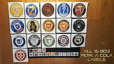 ALL 16 Perk A Cola Sticker / Label form Call of Duty Zombies (NEW BO3 Style)