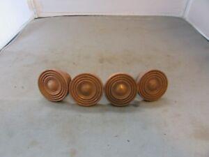 "Lot of (4) VTG Antique Salvaged Brass Knobs Cabinet Dresser Drawer Colonial 1.5"""