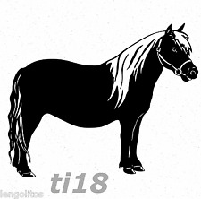 Pferd Haflinger Pony ti18 WandTattoo Wandaufkleber Deko Aufkleber Sticker