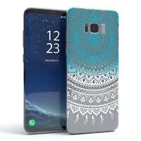 Hülle für Samsung Galaxy S8 Plus Schutz Cover Handy Case Motiv Blau / Weiß
