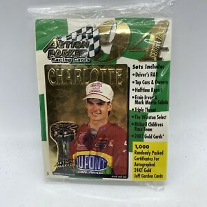 1994 Action Packed Racing Cards 24kt Gold Sealed Pack Jeff Gordon 6 Cards