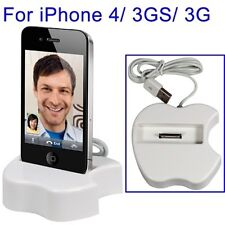 CARICABATTERIA TAVOLO APPLE FORMA MELA per iPhone 3g 3gs 4 4s ipod touch 4g ...